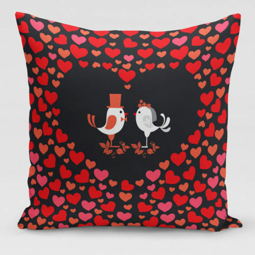 Valentine/'s Day Throw Pillow Case en forme de cœur Forever Lover Housse De Coussin Cadeau