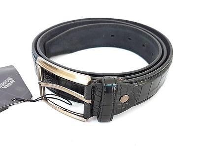 Bello Ds Cinta Cintura Uomo Nera Effetto Coccodrillo Elegante Glamour Fashion Moda Hac