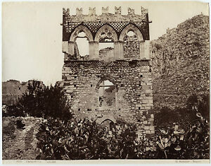 Italia Taormina Foto Sommer Vintage Albumina Ca 1875