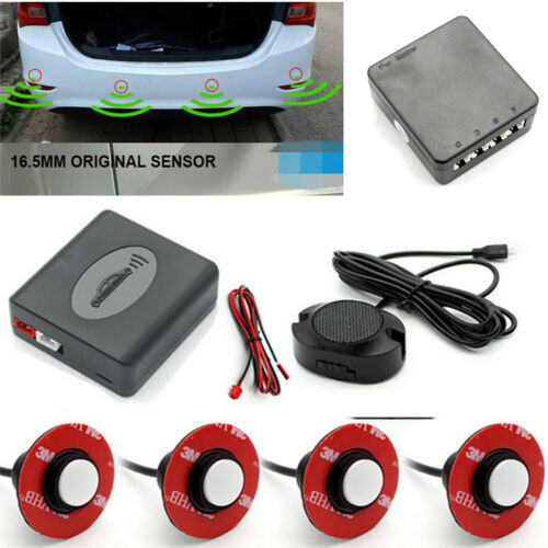 Car Parking Reverse Backup Assistant Radar Alarm System+4pcs 16mm Flat Sensors