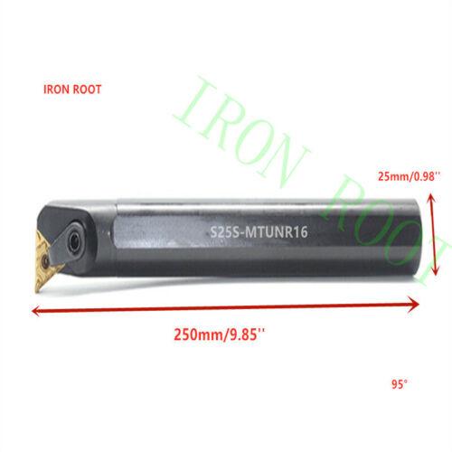 25×250mm 95° S25S-MTUNR16 CNC lathe Internal Turning Toolholder For TN*1604