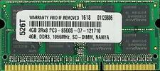 4GB DDR3 MEMORY RAM PC3-8500 SODIMM 204-PIN 1066MHZ CL7 1.5V 2RX8
