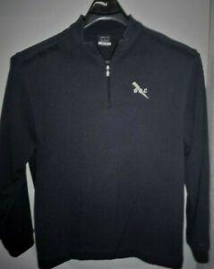 Men-039-s-Nike-Golf-Sz-XL-1-4-Zip-Nike-Sweatshirt-Pullover-Blue-Sweater-BBC-Logo