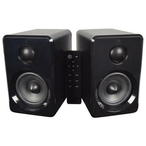 AV:Link Active Bluetooth Bookshelf Speakers Black