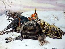 Gemälde Öl auf Leinwand signiert KWITKO 1862 Russland / Polen / Ukraine ?