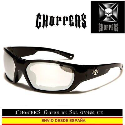 CHOPPERS Gafas de Sol UVAB Acolchado Quitable Moto Sunglasses Lunettes Occhiali