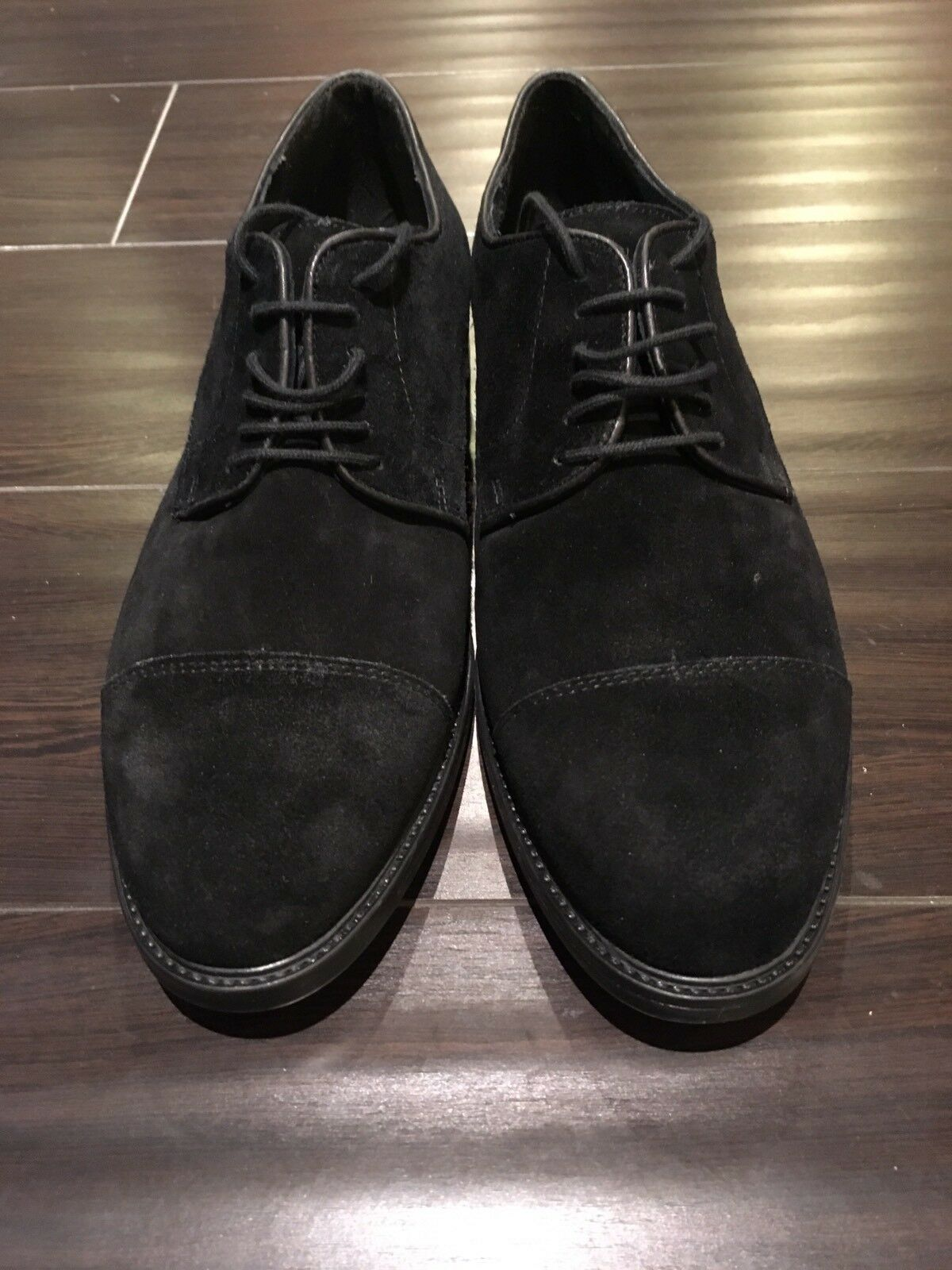 BRAND NEW ALFANI Men shoes, Black Suede leather, Size 8 US