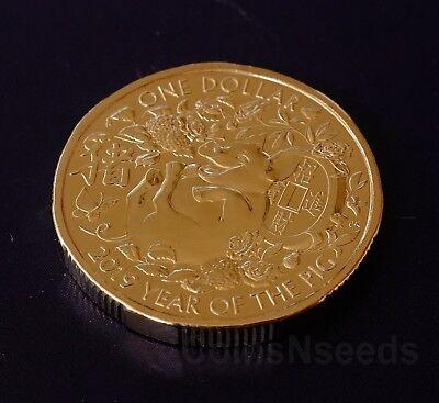 wealth 2019 Lunar Year of The Pig LU $1 Dollar UNC Coin Australia