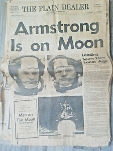 The-plain-Dealer-Cleveland-Men-on-Moon-July-21-1969-Newspaper-Complete-Edition