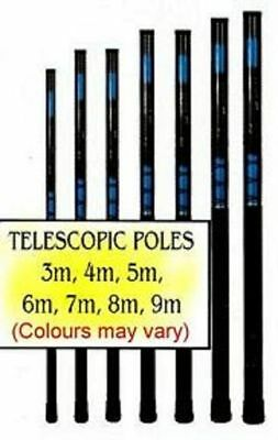 5m Telescopic Fibreglass Pole for Signs Windsocks//Flags