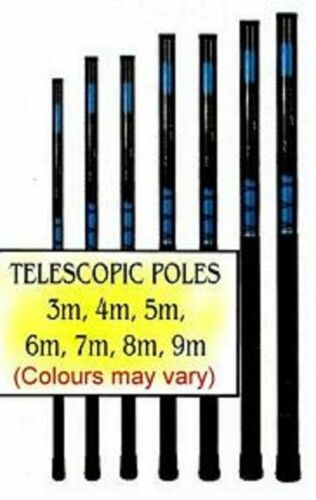 8M ONLY FIBRE GLASS TELESCOPIC POLE WHIPS AND ONE POLE STAKE FREE P/&P UK ONLY.