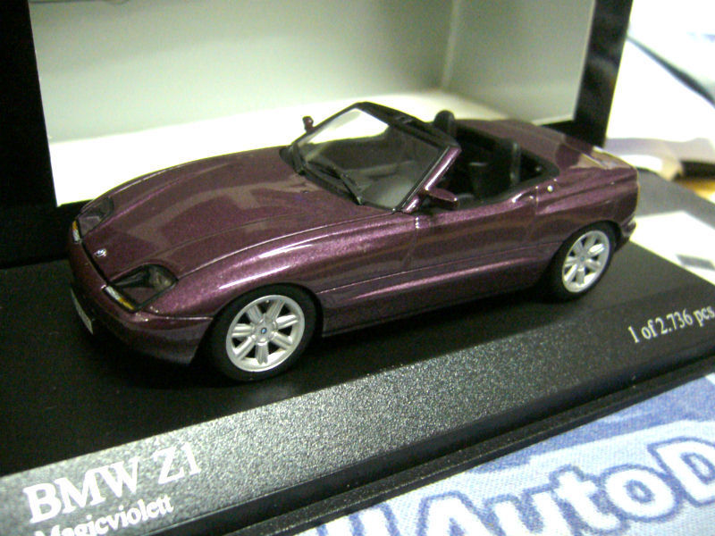BMW Z1 Roadster RLE 1988 - 1991 purplet met PMA Minichamps 1 43