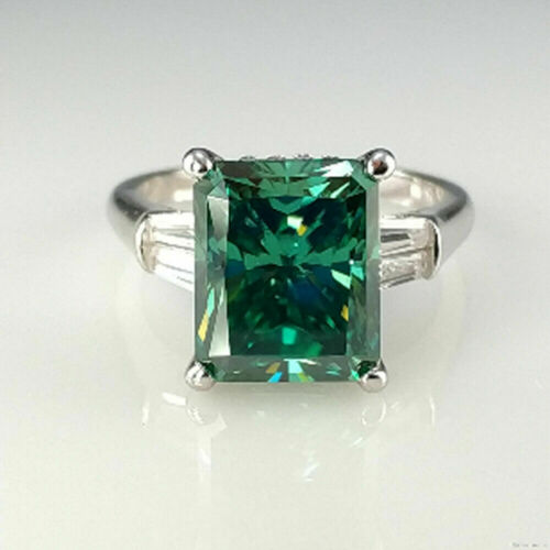 Details about  /Women/'s day 2.50 CT Vivid Green Radiant Cut Moissanite 925 Sterling Silver