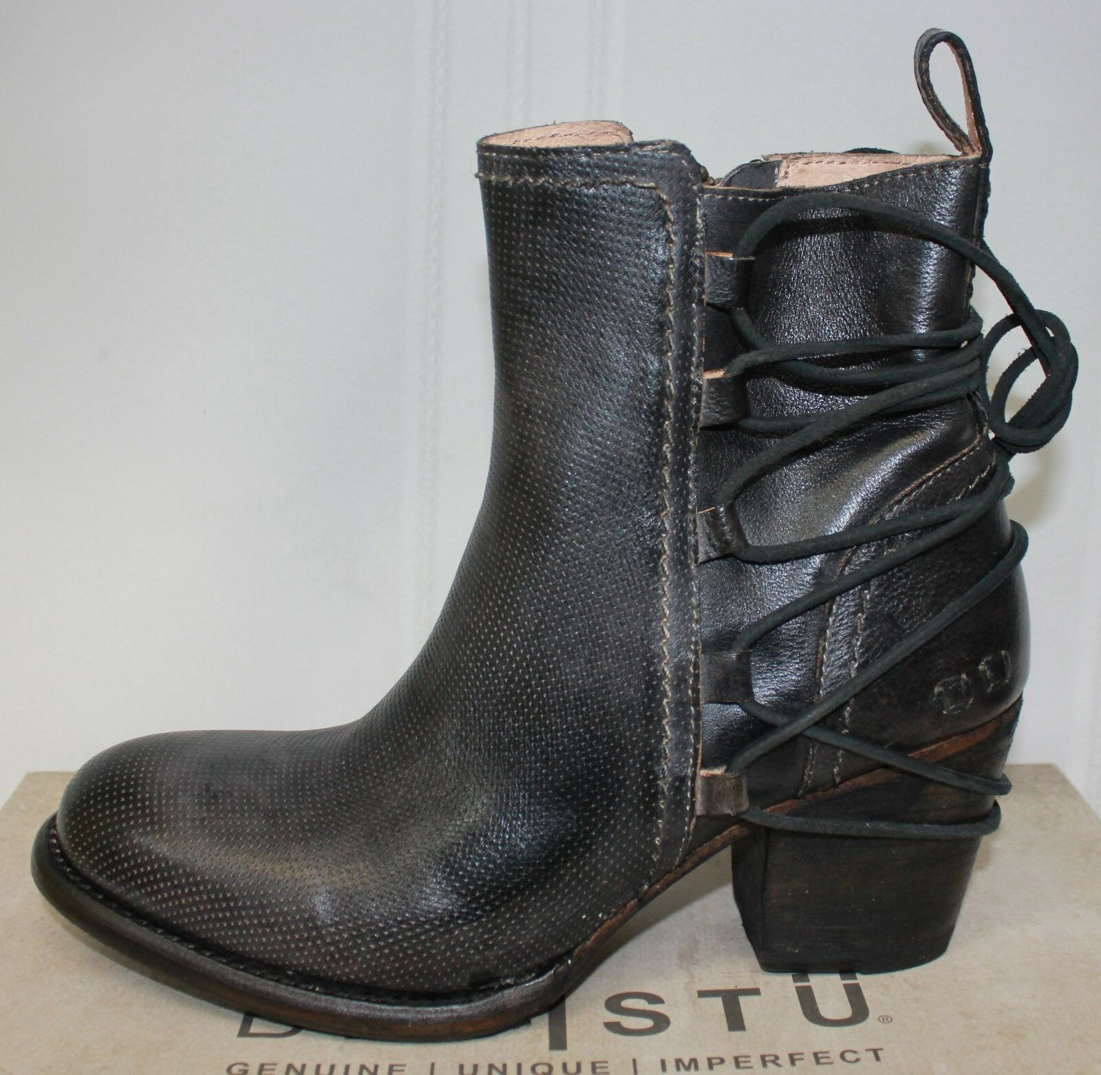 Bed Stu Blaire Blaire Blaire Leather boots Graphite Rustic Dark Grey New With Box beebc7