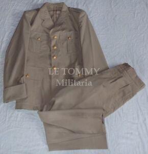 56acf276daef4c Détails sur Tenue beige d'été veste+pantalon armée française années 70  Artillerie de Marine