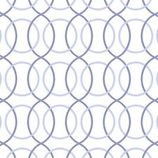 1/2 Yrd Quilting Treasures Monterey Circle Geo Periwinkle Blue Low Volume Fabric