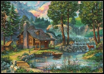 The Book Stall~ Village Landscapes ~ DIY Counted Cross Stitch Pattern