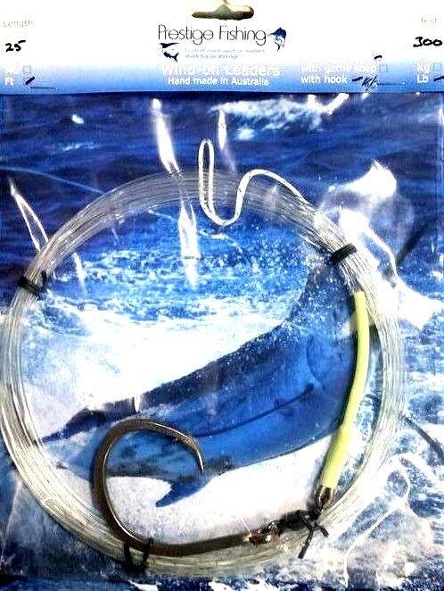 Líder Windon 3x 300lb con gancho  y giro 18 0 círculos de viento de líder de atún Marlin  calidad auténtica