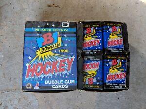 1990-91-BOWMAN-HOCKEY-BOX-36-Unopened-packs