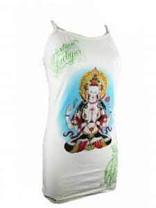 buddha Audigier Nuovo strass bianco Ladies Tank Christian con xY1nFppq
