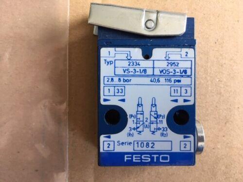 VS-3-1//8 Stößelventil ; Hersteller Festo 2334 vorgesteuert unbetäitgt kein Dur