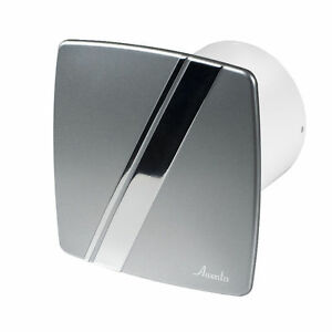 "Bathroom Extractor Fan bathroom extractor fan 100mm / 4"" timer & humidity sensor silver"