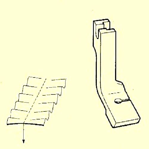 For Industrial Sewing Machine Gathering Foot #120828N Narrow Shirring P50N