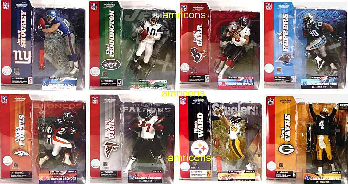 McFarlane Sports NFL Football Series 7 Set of 8 Action Figures New