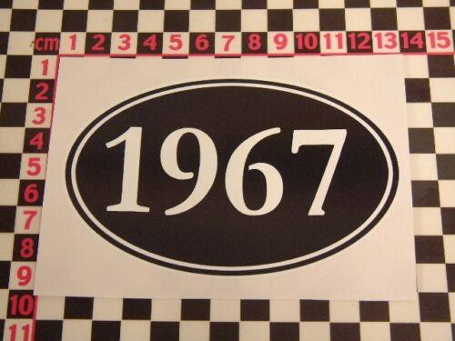 Etiqueta engomada de 1967 año-Mod rockeros Coche Moto Scooter Clásico Brighton Helme