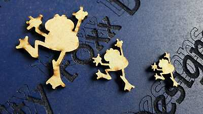 Wooden Mdf Frog shapes Embellishment craft Blank various sizes CFE63