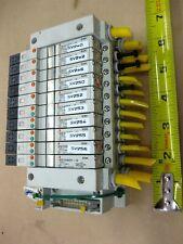 Smc Pneumatic Pcw Type Valve Bank Lot Vq1200y 5 24vdc Solenoid Valves Manifold