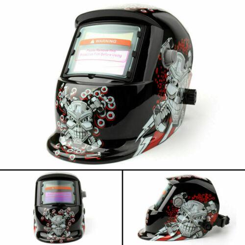 Solar Powered Auto-Darkening Welding Helmet Grinding TIG Welder Mask