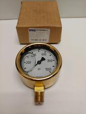 New Old Stock Wika 25 0 1000 Psi Pressure Gauge 21340 25 50233521
