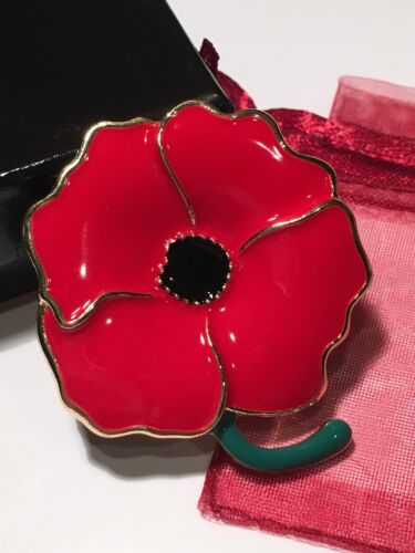 Coquelicot Rouge souvenir Broche Pin émail VACANCES Memorial Labor Veteran/'s Day