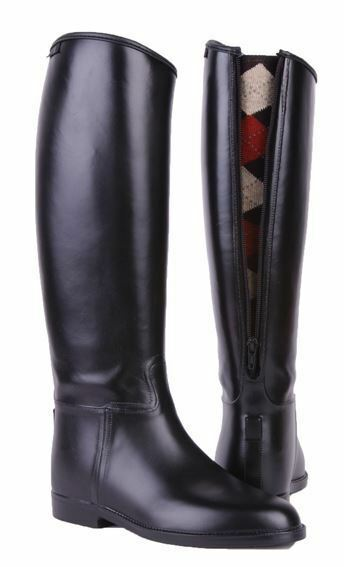 HKM Equestrian Ladies Long & Wide  Zip Waterproof Easy Clean Horse Riding Boots  everyday low prices