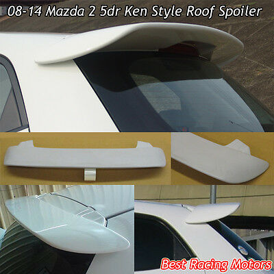 K Style Rear Roof Spoiler Wing (FRP) Fits 08-14 Mazda 2 5dr