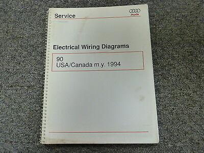 1994 Audi 90 Quattro Sedan Electrical Wiring Diagrams ...