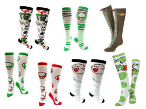 Nintendo-Womens-Super-Mario-Zelda-Knee-High-Socks-New-amp-Official-Ages-14