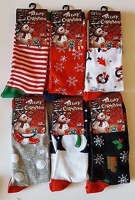 Diszipliniert 6x Women Kids Girl Christmas Socks Gift Kids Xmas Fashion Funny Socks 4-7