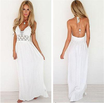 Sexy Women Long Boho Maxi Evening Party Dress Chiffon Dress Summer Beach Dresses