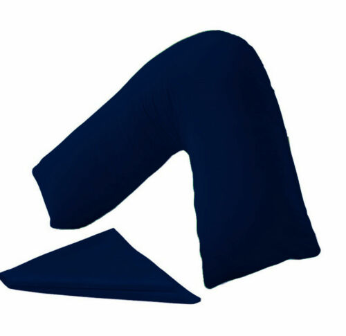Hollowfibre Back /& Neck Support V Shaped Orthopaedic Pillow With Case 16 Colours