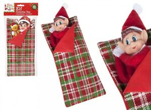 Traditional Patterned Elf Sleeping Bag Accessory Naughty Accessories Shelf X-mas