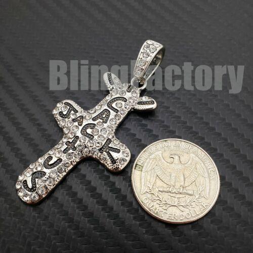 Hip Hop Iced Lab Diamond Silver PT Travis Scott Cactus Jack Cross Charm Pendant