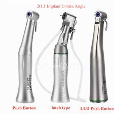 New Listingdental Implant Motor 201 Reduction Ledcontra Angle Latchpush Button Handpiece