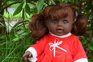 """2019 Nouveau Style 12"""" Afro Noir Interactive Talking Baby Girl Real Life Looking Santa De Noël Poupée-afficher Le Titre D'origine"""