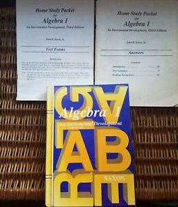 Saxon Math Algebra 1 (3rd edition) homeschool set with ...