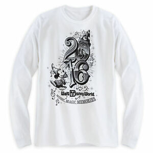 5cc25be9d96 Sorcerer Mickey Mouse Long Sleeve Tee for Adults Walt Disney World ...
