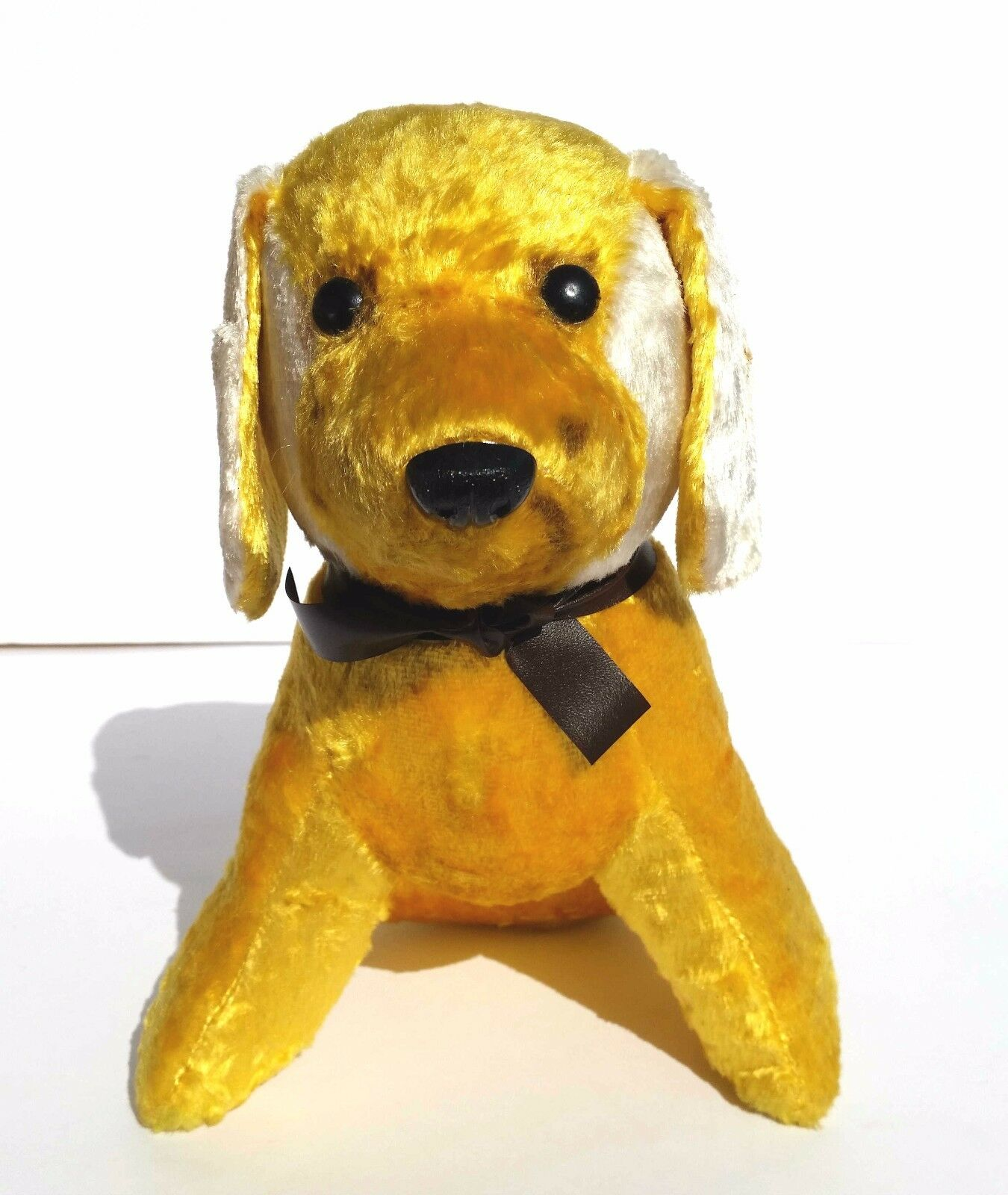 1970s USSR Russia Soviet Plush Toy Doll Yellow PUPPY