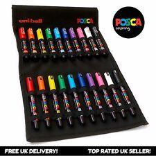 Uni Posca - PC-1M / PC-1MR Paint Art Markers - Essential Set of 20 - Canvas Wrap