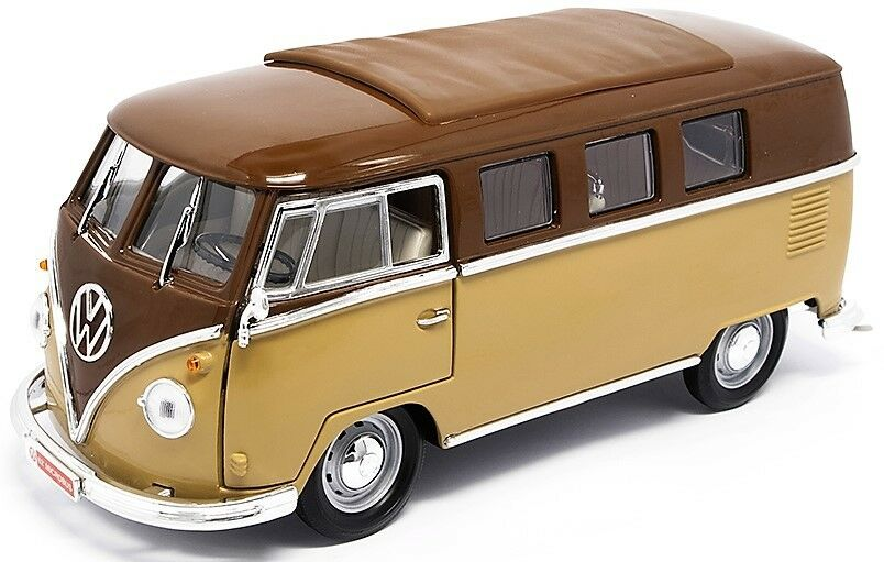 ROAD LEGENDS 92328BR 92328G VW MICROBUS diecast model sunroof 1962 1 18th scale